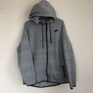 Nike Tech Front Zip Heather Hooded Jacket